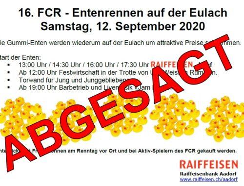 16. FCR Entenrennen wurde abgesagt!!!